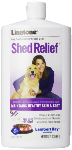 Lambert Kay Linatone Shed Relief Skin and Coat Liquid Supplement for Dogs and Cats, 32-Ounce by Lambert Kay