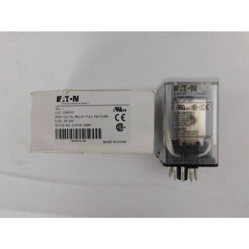 Eaton Eaton D3RF3T Relay, 24VAC Coil, 3PDT, 10A, 11-Pin, Plug -In Style by Eaton