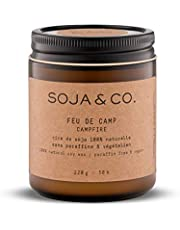 SOJA&CO. Scented Candles for Home, Aromatic Soy Wax Candle in Glass Jar, Long Burning Glass Jar Soy Fragrance Candles