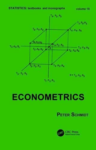 Econometrics (Statistics: A Series of Textbooks and Monographs)