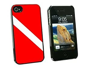 Graphics and More Diving Flag - Scuba Diver Dive - Snap On Hard Protective Case for Apple iPhone 5c - Black - Carrying Case - Non-Retail Packaging - Black