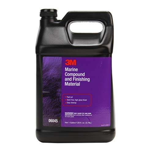 3M Marine Compound and Finishing Material (06045) - For Boats and RVs - 1 Gallon
