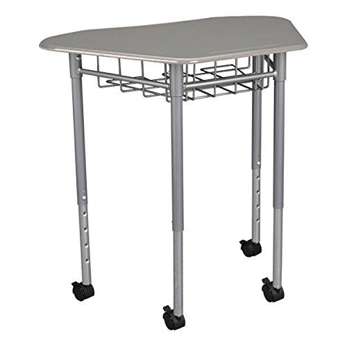 (Learniture Hex Collaborative Desk with Wire Box, 31