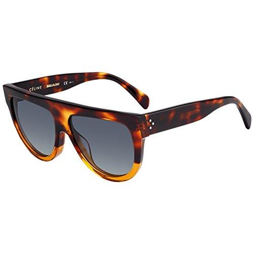Celine CL41026/S 233 Havana/Brown Shadow Round Sunglasses Lens Category 3 ()