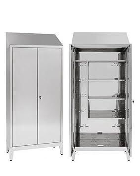 Armario para escobas 2 puertas de acero inoxidable AISI 430 ...