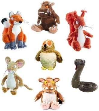 The Gruffalo - Juego de 7 peluches (Gruffalo, Gruffalo hijo, búho, zorro, ardilla, serpiente y ratón): Amazon.es: Juguetes y juegos