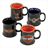 Harley Davidson Ceramic Mug Shot Set