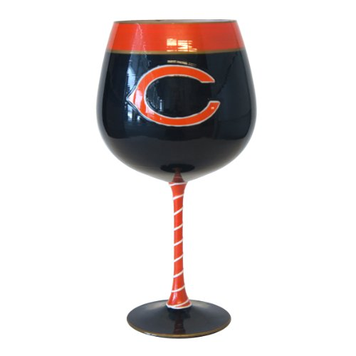 NFL Chicago Bears Artisan Wine Glass, 33-ounce
