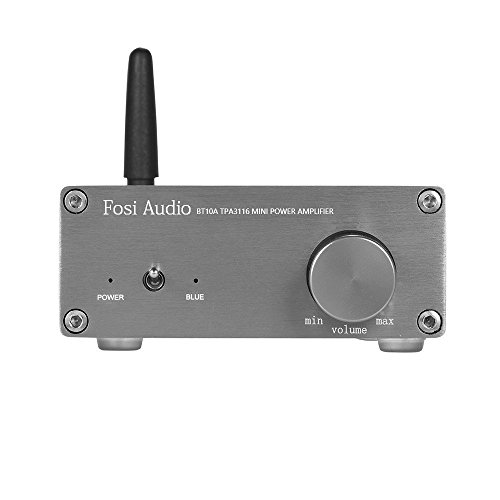 2 Channel Stereo Audio Amplifier Mini Hi-Fi Professional Amp for Home Speakers 50W x 2 (With Bluetooth)