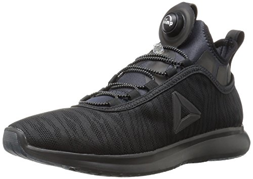 Reebok Women's Pump Plus Flame Running Shoe, Black, 8.5 M US