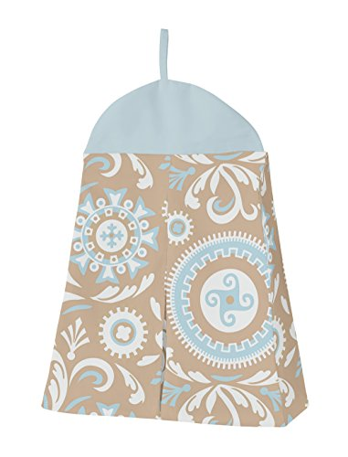 Sweet Jojo Designs 9-Piece Blue and Taupe Hayden Gender Neutral Baby Bedding Girl or Boy Crib Set by Sweet Jojo Designs (Image #4)
