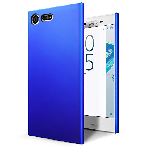 SLEO Sony Xperia X Compact Case - Rubberized Hard PC Back Case Cover for Sony Xperia X Compact Phone - Blue