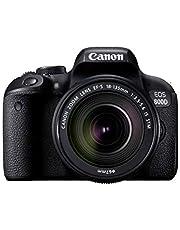 كانون اي او اس 800D EF-S 18-135mm F3.5-5.6 IS STM عدسة - 24.2 ميجابكسل، كاميرا دي اس ال ار، اسود