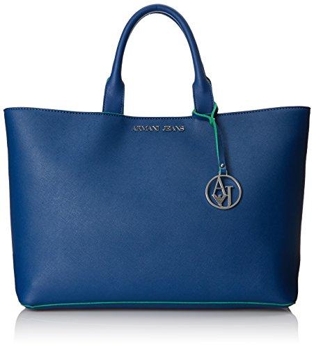 Armani Jeans Faux Leather Handbag with Contrast Top Handle Bag - Buy Online  in UAE.  df4d02a736d2d