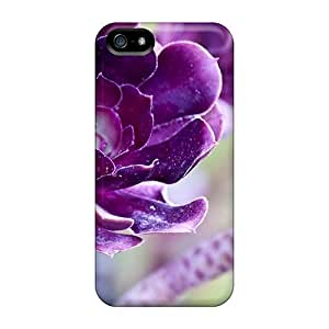 Anti-scratch And Shatterproof Lovely Deep Purple Flowers Phone Case For Iphone 5/5s/ High Quality Tpu Case