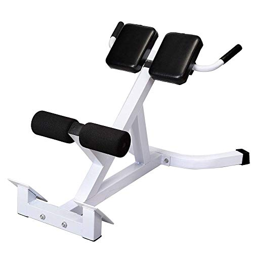 wlethan N-027 Roman Chair – for Abdomen/Back Stretching/tilt Multi-Function Workout Home Gym (White and Black)