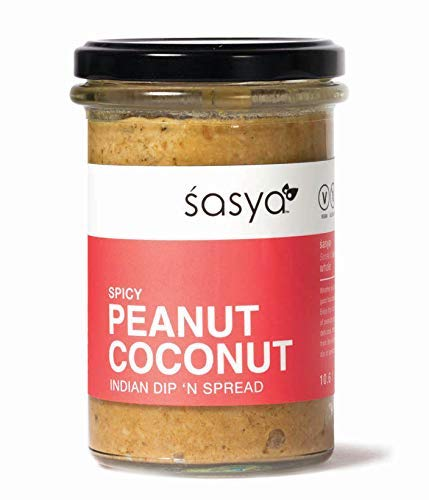 (Spicy Peanut Coconut Dip 'n Spread - Vegan, Gluten Free Indian Chutney - 10.6 Fl Oz, (Pack of 2))