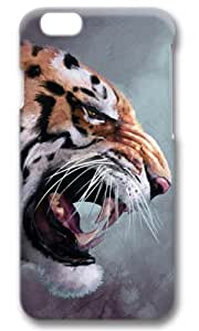 Angry Tige Painting Thanksgiving Easter Masterpiece Limited Design PC Black 3D Case for iphone 6 by Cases & Mousepads