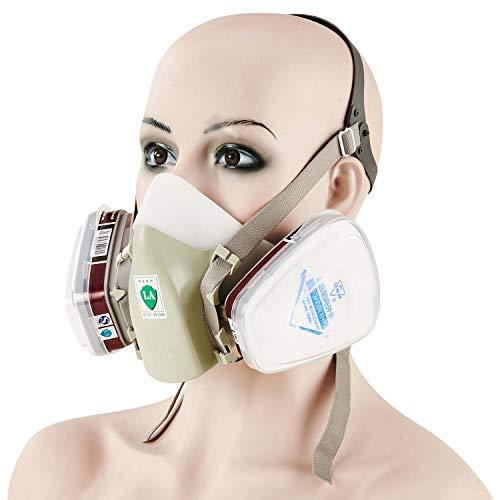 Mufly Reusable Spray Painting Respirator Half Face Mask with Anti-formaldehyde Respirator Organic Vapor/P95