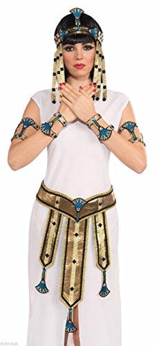 [Deluxe Cleopatra Egyptian Female Wrist Cuff Roman Costume Accessory Cute] (Cute Female Clown Costumes)