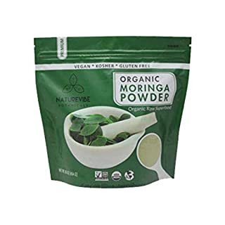 Organic Premium Moringa Powder by Naturevibe Botanicals (1 Lb), Non GMO Verified and Gluten Free   Multi-Vitamin   Great in Drinks and Smoothies   Supports Weight Loss.