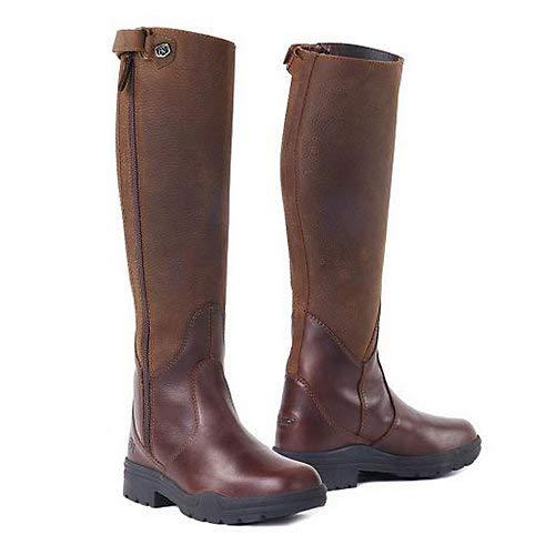 Ovation Women's Moorland Rider Boot Brown 7 W US ()