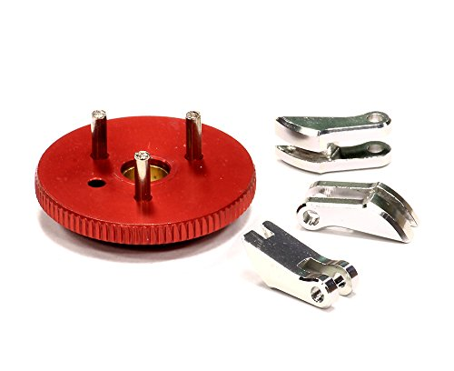 Integy RC Model Hop-ups T3635RED 3-Piece Clutch Conversion for T-Maxx (4907, 4908, 4909, 4910)