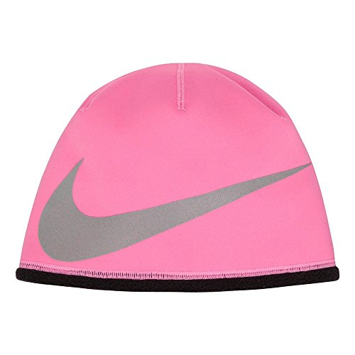 Nike Kids Therma Reflect Hat (7-16 Big Kids, Pink Power/Black/Reflective Silver)