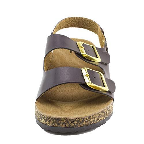 Open Kali Toe Strap Womens 2 Sandals Buckle Brown TwaBxw