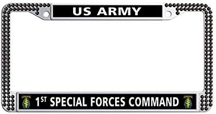 US Army Veteran Special Forces Airborne License Plate Frame Car Tag Holder