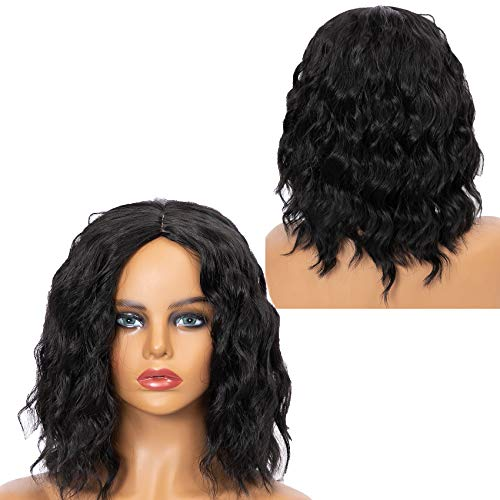 Damenmode Perücke Brown Synthetic Hairshort Perücken Haar Wave Perücke