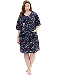 Women's Plus Size Short French Terry Robe