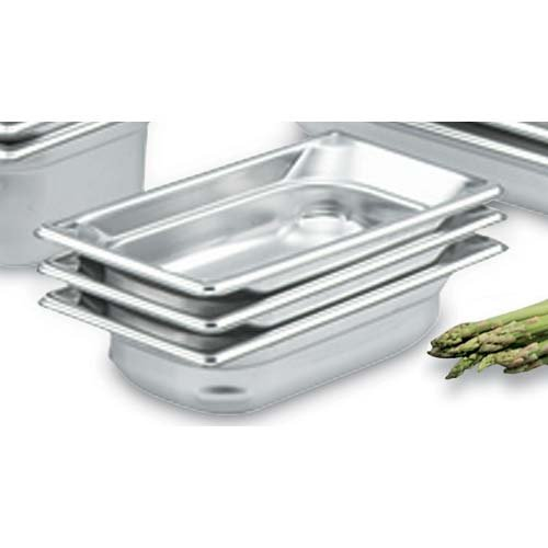 Vollrath 90462 Super Pan 3 Quarter-Size Steam Table Pan, (6-Inch Deep, Stainless ()