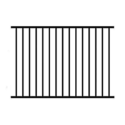 Allure Aluminum 3 ft. H x 6 ft. W Black Aluminum 2-Rail Unassembled Metropolitan Fence Panel