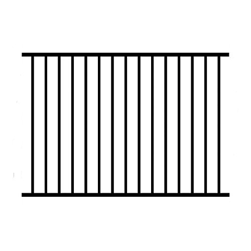 Allure Aluminum 3 ft. H x 6 ft. W Black Aluminum 2-Rail Unassembled Metropolitan Fence Panel