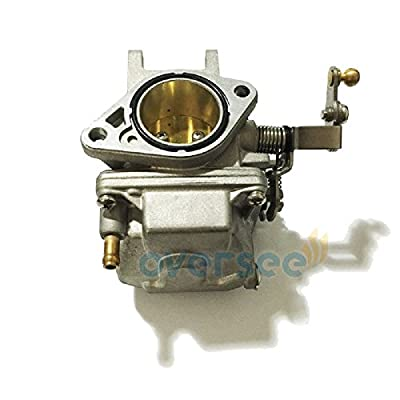 OVERSEE 69P-14301 or 69S-14301 Outboard Carburetor For YAMAHA Outboard Motor 25HP 30HP NEW Model 61N 61T, Boat Motor Carburetor Assy, Replacement Carburetor Aftermarket Parts