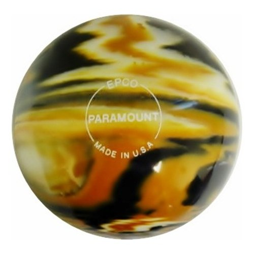 Paramount Marbleized Candlepin Bowling Ball- Olde Gold/Wh...