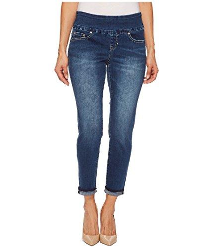 Petite Ankle Pant (Jag Jeans Women's Petite Amelia Slim Ankle Pull On Jean, Kodiak Blue, 8P)