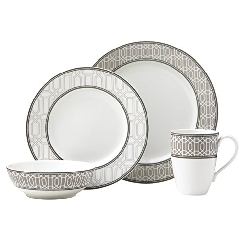 Lenox 4-Piece Neutral Party Link Place Setting Dinnerware Set