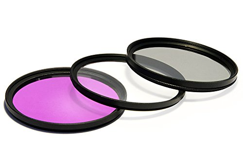UV Ultra Violet + CPL Circular Polarizer + FLD Fluorescent Filter Kit for Rokinon 24mm, 35mm f/1.4 Asherical & Wide Angle Lens ()
