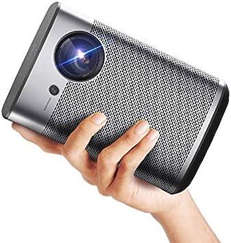 XGIMI Halo Smart Mini proyector, 1080P FHD 800 lúmenes ANSI proyector portátil, Android TV 9.0, soporta 2K/4K, altavoz Bluetooth Harman/Kardon portátil, teatro interior/exterior más de 4000 aplicaciones: Amazon.es: Electrónica
