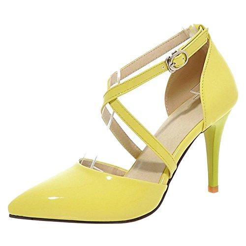 Cinturino 88 Tacco Scarpe con Yellow Donna RAZAMAZA CwqIYn