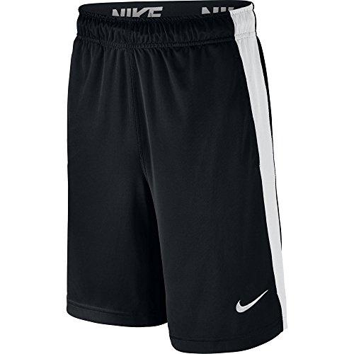 NIKE Boys' Dry Shorts, Black/White/Black/White, Medium