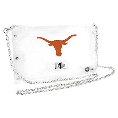 Littlearth NCAA Texas Longhorns Clear Envelope Purse (Game Purse University Day)