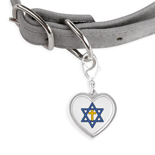 CafePress Star Of David With Cross Pet Tags - Small Heart Pet Tag