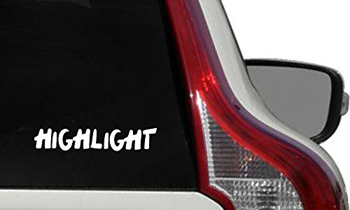 HIGHLIGHT text Kpop Car Vinyl Sticker Decal Bumper Sticker for Auto Cars Trucks Windshield Custom Walls Windows Ipad Macbook Laptop Home and More (WHITE)