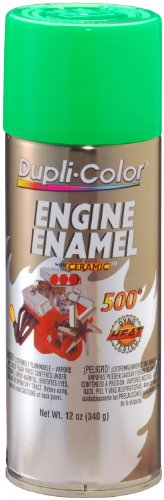 Dupli-Color EDE164107 Ceramic Grabber Lime Green Engine Paint - 12 oz. (Neon Green Automotive Paint)