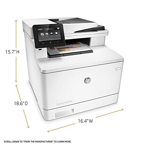 HP LaserJet Pro All-in-One Color Printer, M477FDW - (CF379A) model