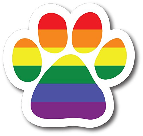 Magnet Me Up Blank LGBT Pawprint Car Magnet Paw Print Auto Truck Decal -