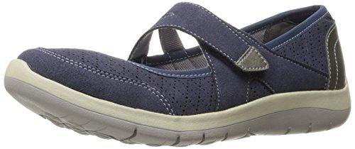 Aravon Women's Wembly Mary Jane Fashion Sneaker, Blue, 7.5 2A US